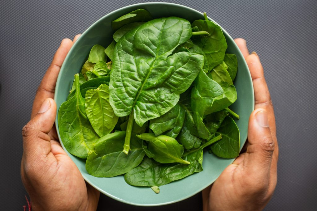 Spinach is a prime ingredient for living healthy